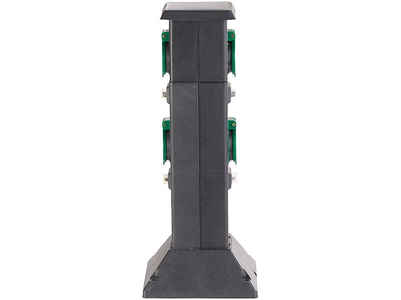 Royal Gardineer Steckdosensäule 4 Fach Steckdosen Säule Für Den