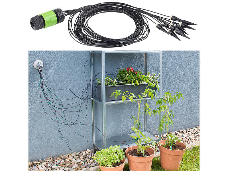 Mikro Tropfen Bewässerung System Pflanze Selbst Gartenschlauch Sets