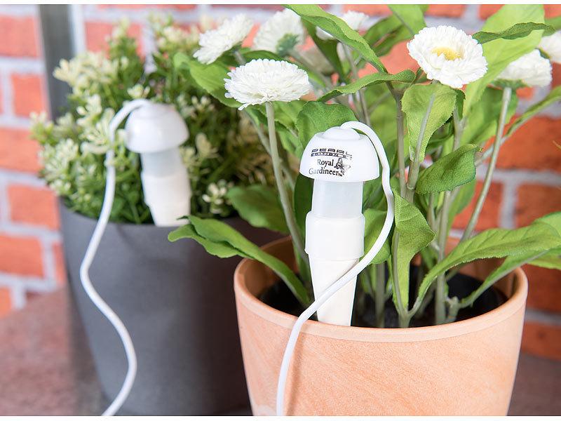 royal gardineer urlaubsbew sserung topfpflanzen bew sserungs system mit tonspitze und schlauch. Black Bedroom Furniture Sets. Home Design Ideas
