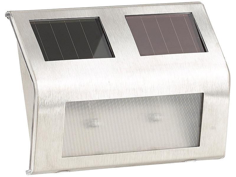 lunartec solar aussenbeleuchtung solar wandleuchte f r. Black Bedroom Furniture Sets. Home Design Ideas