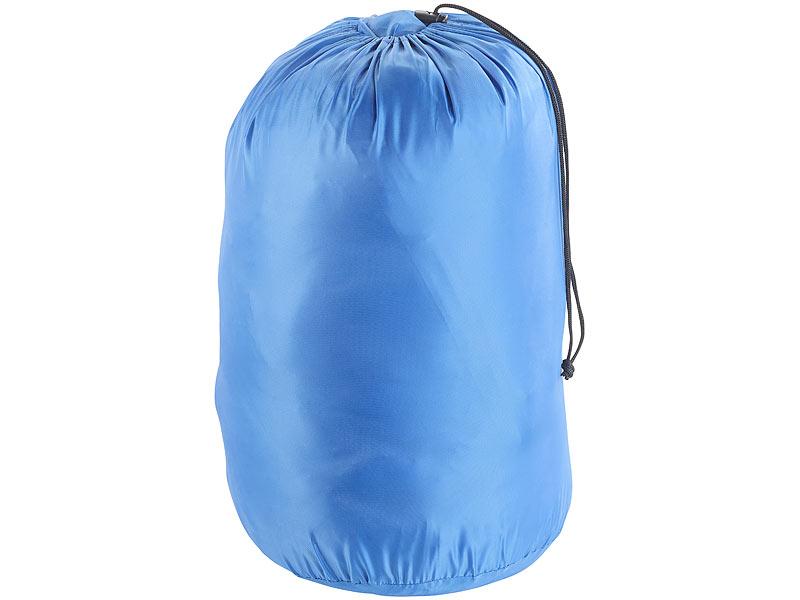 semptec sleeping bag schlafsack f r erwachsen mit armen beinen gr e m bis 180 cm blau. Black Bedroom Furniture Sets. Home Design Ideas