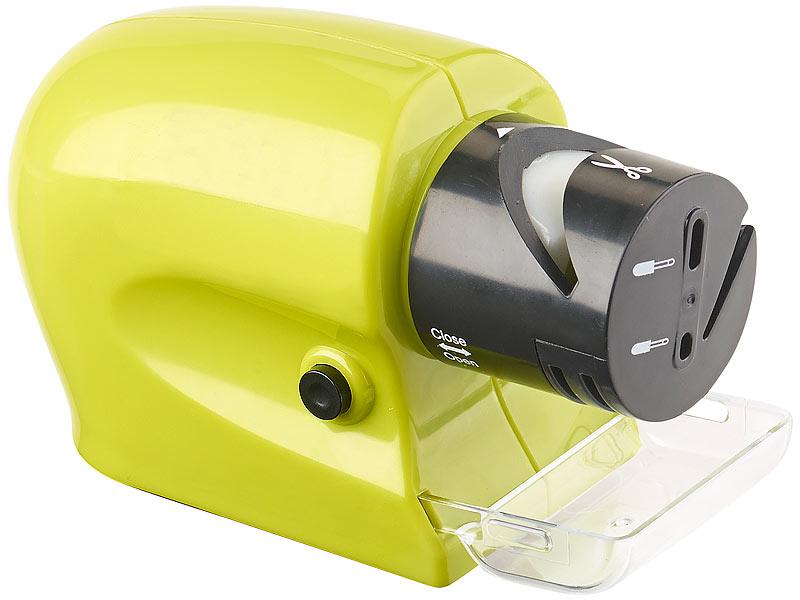 Elektrischer Messer- & Werkzeugschärfer mit extra feinem Schleifstein