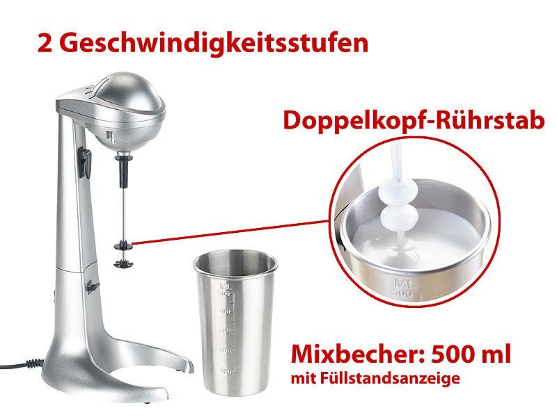 Barmixer+Milchaufschäumer Bar-Mixer Milchshaker Eiweißshaker Eiweiß-Shaker NEU
