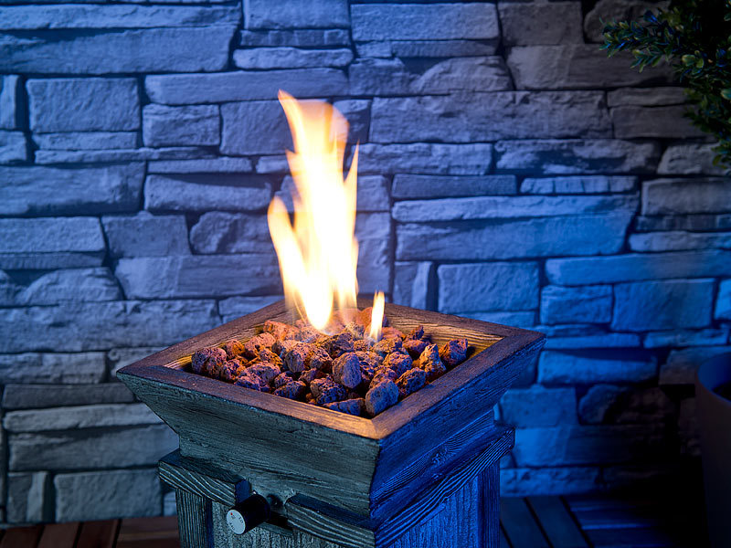carlo milano kompaktes gas heiz dekofeuer f r terrasse und garten. Black Bedroom Furniture Sets. Home Design Ideas