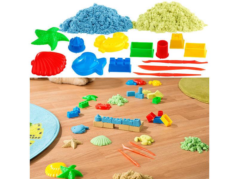 Kinetischer Sand zum Bauen Kinetic Sand Blau /& Lila 2 Farben