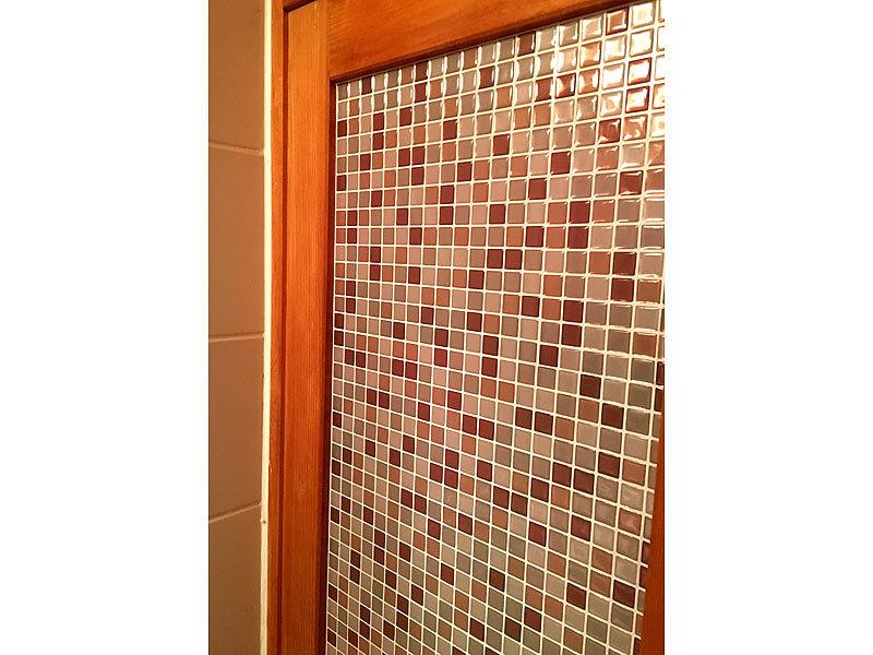 infactory mosaikfliesen selbstklebende 3d mosaik fliesenaufkleber bronze 26x26 cm 15er set. Black Bedroom Furniture Sets. Home Design Ideas