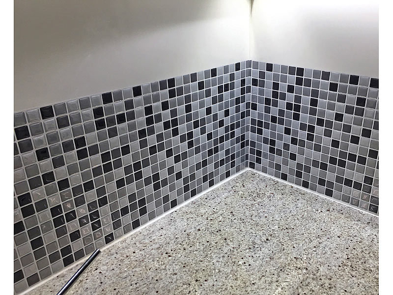 infactory Selbstklebende 3D Mosaik Fliesenaufkleber