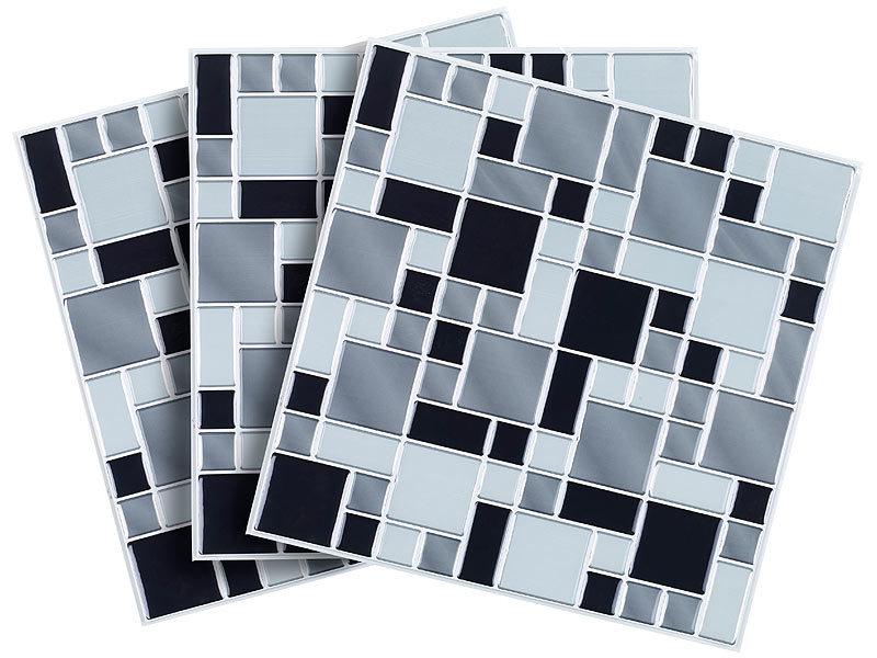 infactory Fliesenfolie Bad: Selbstklebende 3D-Mosaik ...