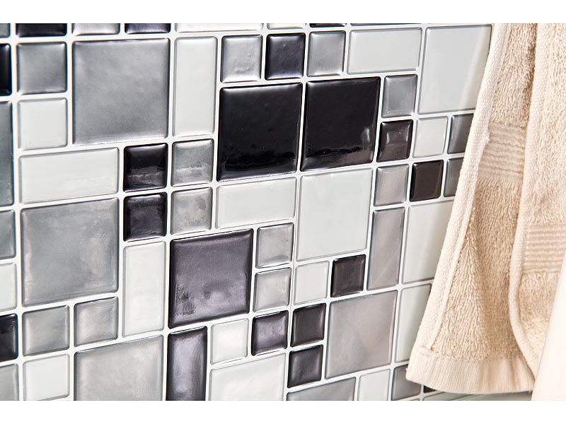 Infactory Klebefliese Selbstklebende 3d Mosaik Fliesenaufkleber
