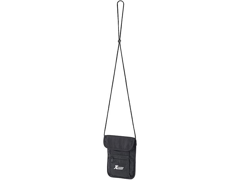 594353ea06619 Xcase Umhängegeldbeutel  Unisex Brustbeutel mit 4 Taschen