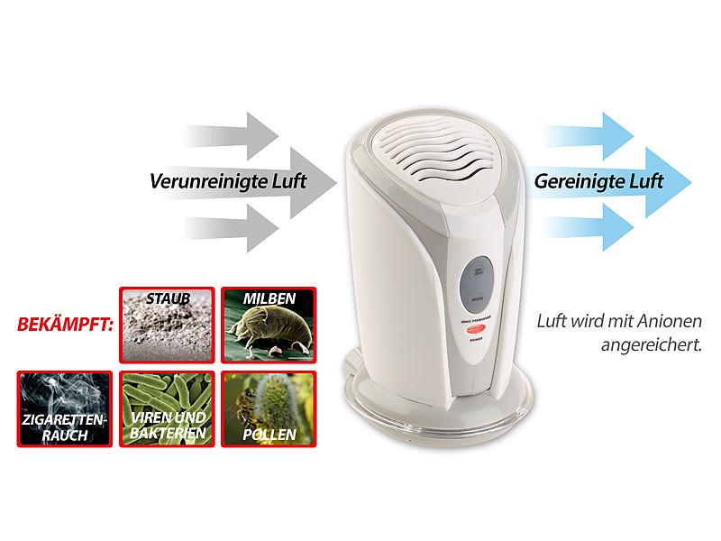 Schränke /& Co. newgen medicals 2er-Set Mini-Ionisator /& Luftreiniger für Auto
