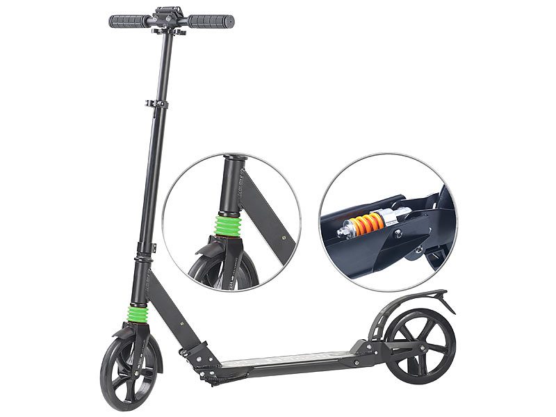 pearl scooter klappbarer profi city roller xxl r der 2 fache federung bis 100 kg tretroller. Black Bedroom Furniture Sets. Home Design Ideas