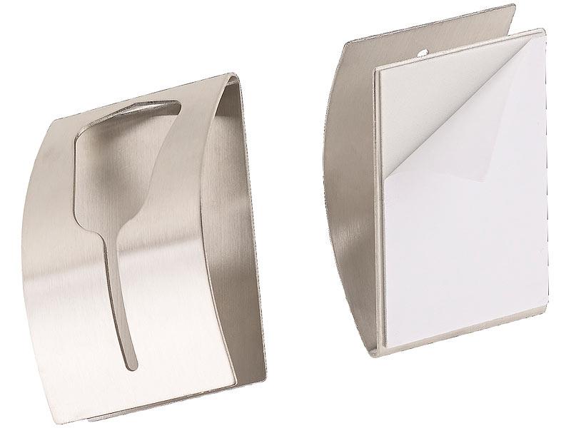 carlo milano t r handtuchhalter 6er set handtuchhalter aus rostfreiem edelstahl selbstklebend. Black Bedroom Furniture Sets. Home Design Ideas