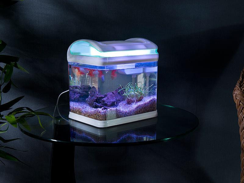 sweetypet aquarium transport fischbecken mit filter led beleuchtung und usb 3 3 liter mini. Black Bedroom Furniture Sets. Home Design Ideas