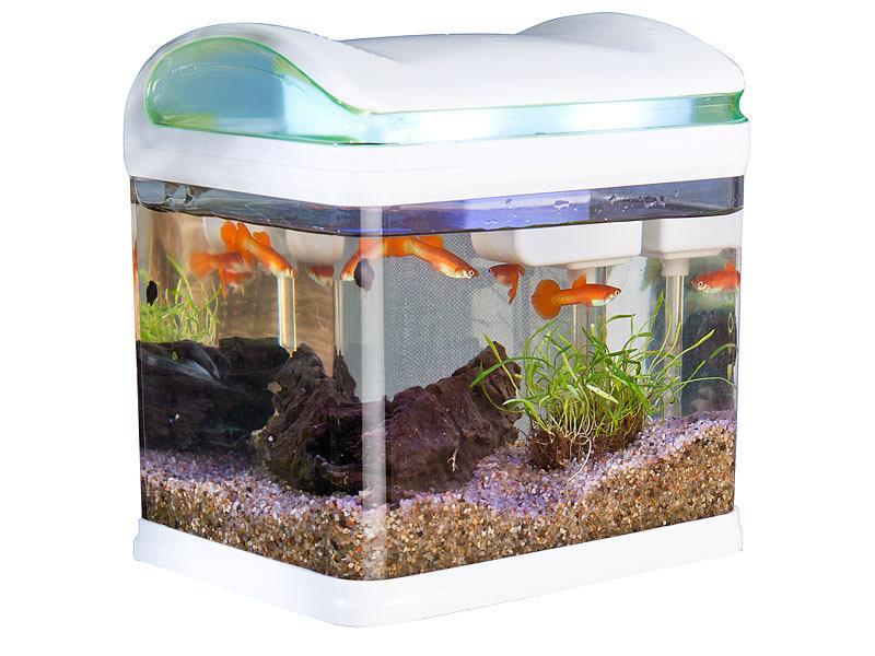 sweetypet aquarium transport fischbecken mit filter led beleuchtung und usb 3 3 liter. Black Bedroom Furniture Sets. Home Design Ideas