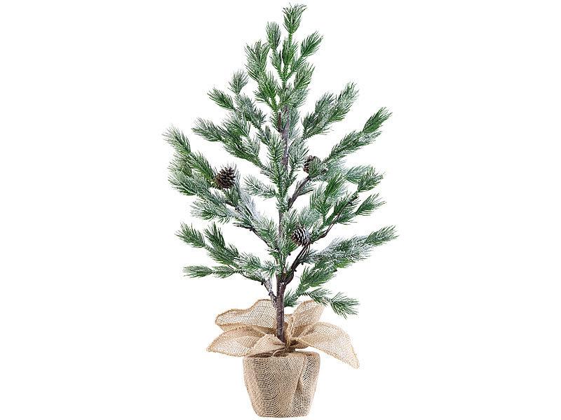 britesta led weihnachtsbaum klein 2er set deko nadelb umchen im topf 24 leds kunstschnee. Black Bedroom Furniture Sets. Home Design Ideas