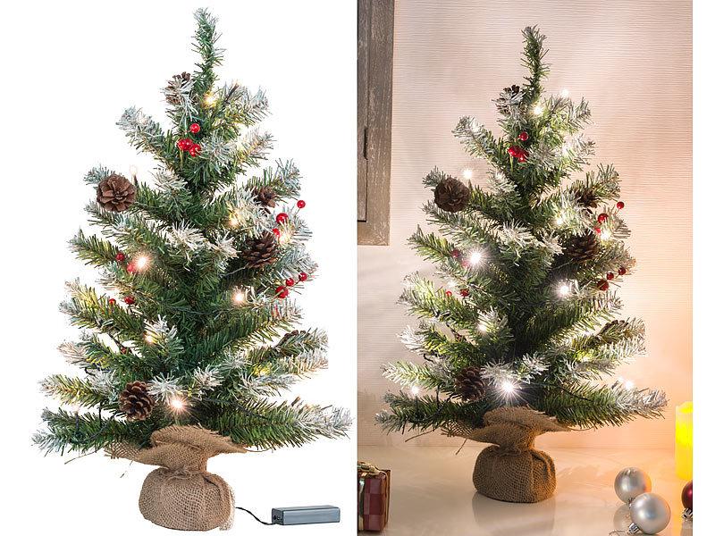 Britesta Baum: Deko-Weihnachtsbaum mit 30 LEDs, Pinienzapfen und ...