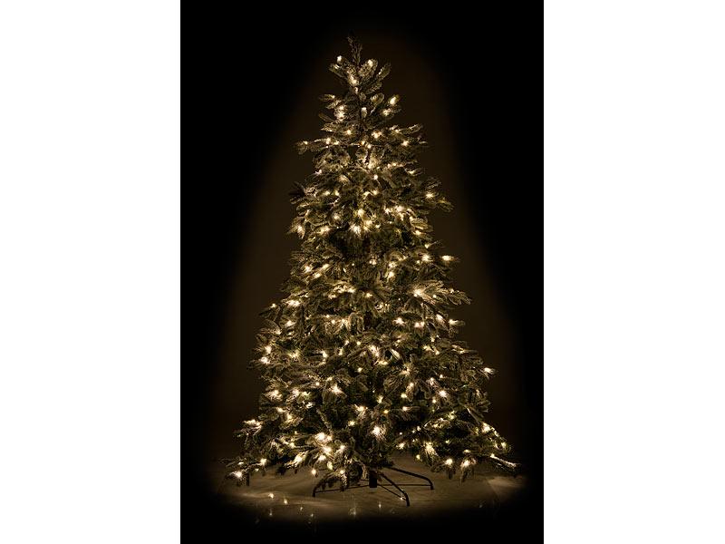 Geschmückter Künstlicher Weihnachtsbaum Mit Lichterkette.Infactory Künstlicher Weihnachtsbaum Weiße Spitzen 500 Leds 70