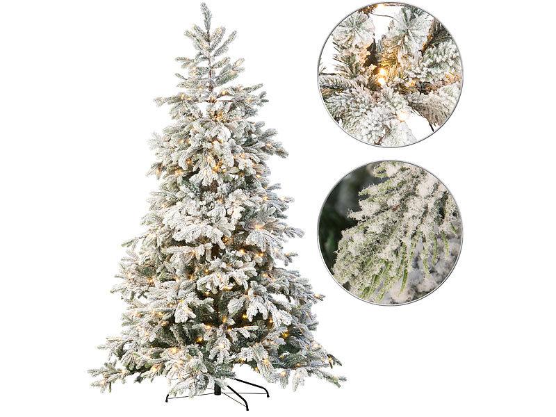 Künstlicher Weihnachtsbaum Weiß Mit Beleuchtung.Infactory Künstlicher Weihnachtsbaum Weiße Spitzen 500 Leds 70