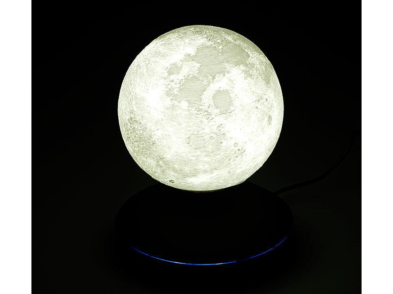 infactory Schwebende Mond Lampe: Freischwebende Deko Leuchte