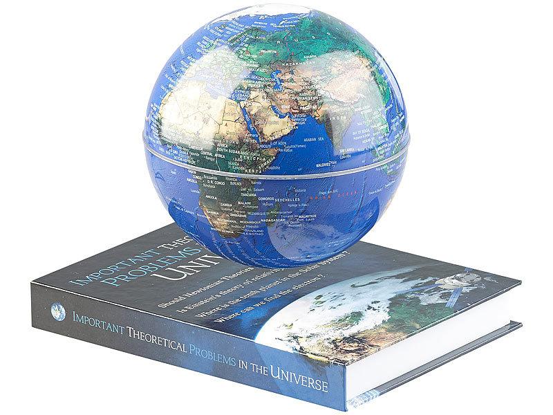 Globus Weltkugel Karte.Infactory Weltkugel Freischwebende Deko Leuchte Mit Beleuchtetem