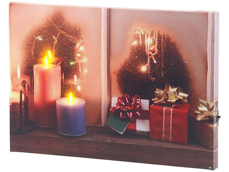 infactory beleuchtete bilder wandbild weihnachtliches. Black Bedroom Furniture Sets. Home Design Ideas