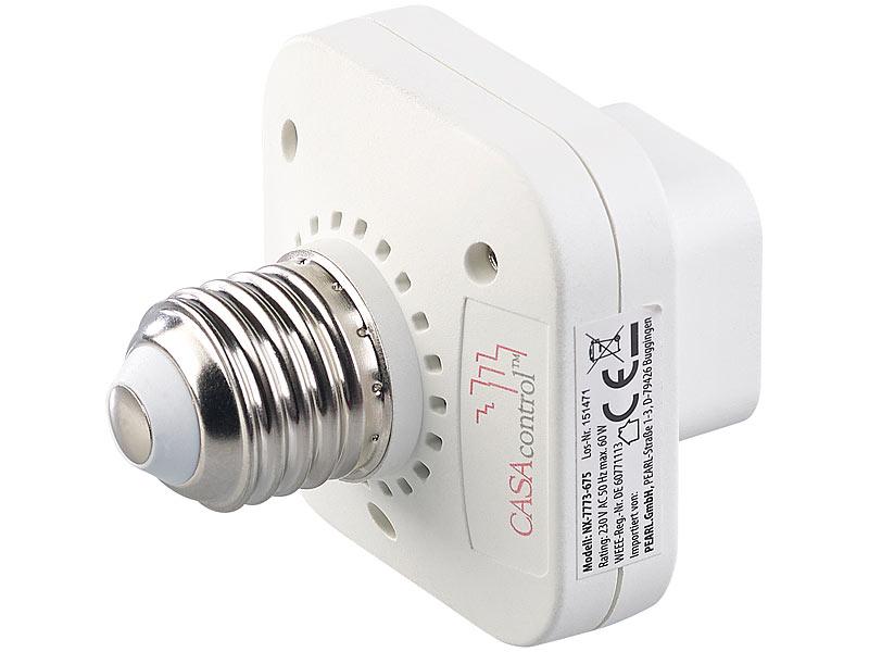 bis 200 Watt CASAcontrol Zubeh/ör zu Funkschalter E27 Funkschalter mit Empf/änger Einbau-Funk-Schaltmodul f/ür kinetische Funk-Taster