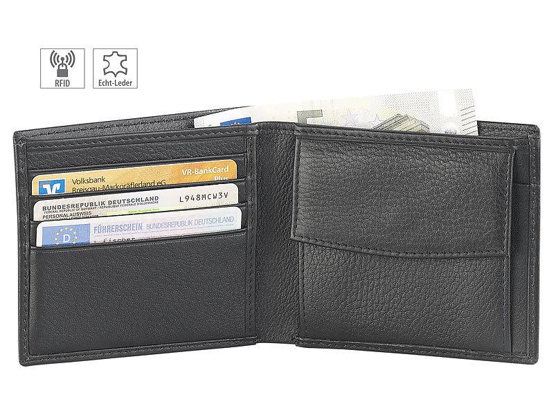 50d88436e21607 Geldbeutel: Carlo Milano Flache Herren-Geldbörse im Querformat mit  RFID-Schutz, Leder