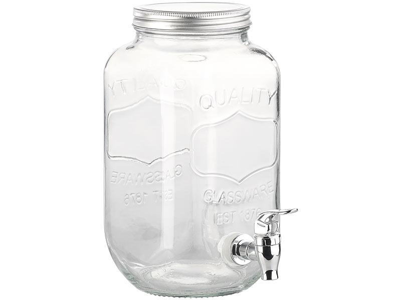 Pearl Wasserspender Retro Getränkespender Aus Glas Einmachglas