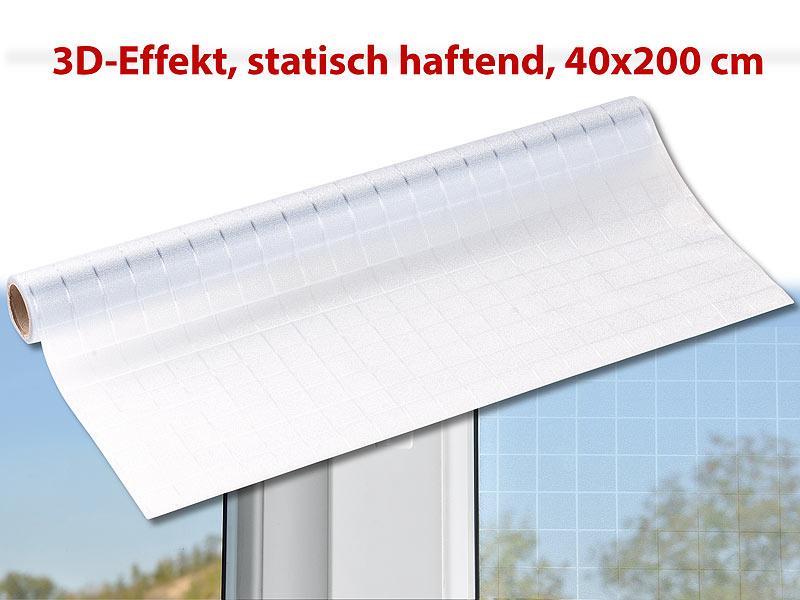Infactory sichtschutz folie karo statisch haftend - Fensterfolie statisch anbringen ...