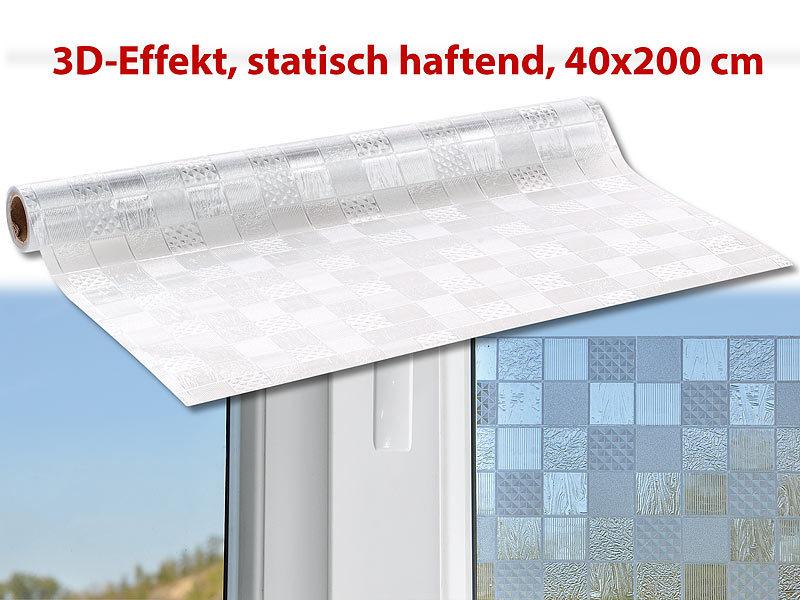 Infactory Fensterfolie Blickschutz 3d Sichtschutz Folie Kachel