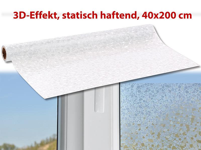 Infactory fensterfolien 3d sichtschutz folie splitter - Fensterfolie statisch anbringen ...