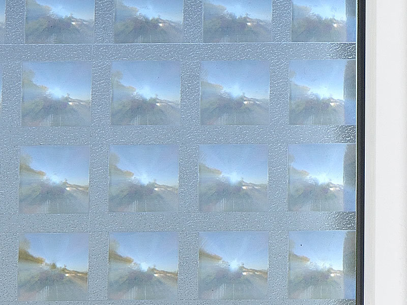 Infactory 3d sichtschutz folie rhombus statisch haftend for Klebefolie abwaschbar