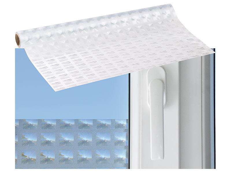 infactory sichtschutzfolie fenster 3d sichtschutz folie rhombus statisch haftend 40x200 cm. Black Bedroom Furniture Sets. Home Design Ideas