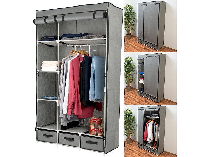 pearl kleiderschrank 2 t riger faltschrank mit 6 f chern. Black Bedroom Furniture Sets. Home Design Ideas
