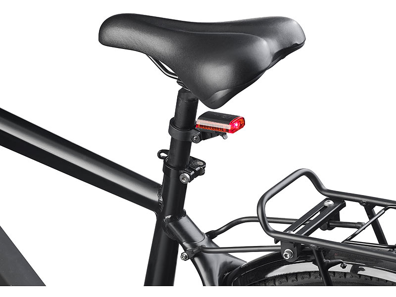 pearl fahrrad beleuchtung cree led fahrrad r cklicht mit akku usb ladekabel stvzo zugel. Black Bedroom Furniture Sets. Home Design Ideas