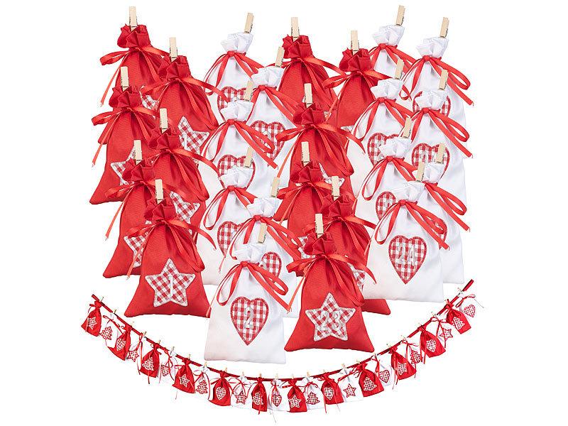 Krimi Weihnachtskalender.Infactory Weihnachtskalender Adventskalender Girlande Mit 24 Xl