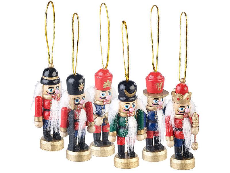 Schmuck Für Weihnachtsbaum.Infactory Weihnachtsbaumanhänger 6er Set Holz Weihnachtsbaum