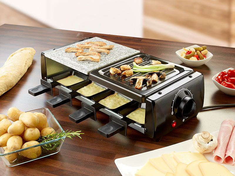rosenstein s hne tischgrill raclette rcl 120 f r 8 mit grill und hei em stein watt. Black Bedroom Furniture Sets. Home Design Ideas