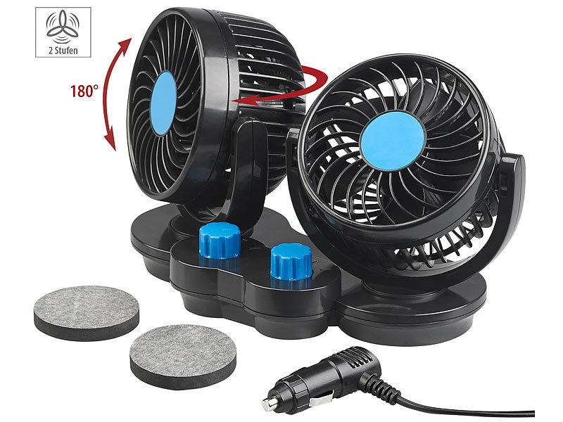 Ventilator 12V Autoventilator USB Lüfter Camping Caravan Auto Lüfter