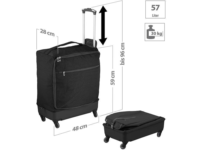 e8c904cb2106 Xcase Reisetasche: Ultraleichter Reise-Trolley mit 57 Litern Volumen ...