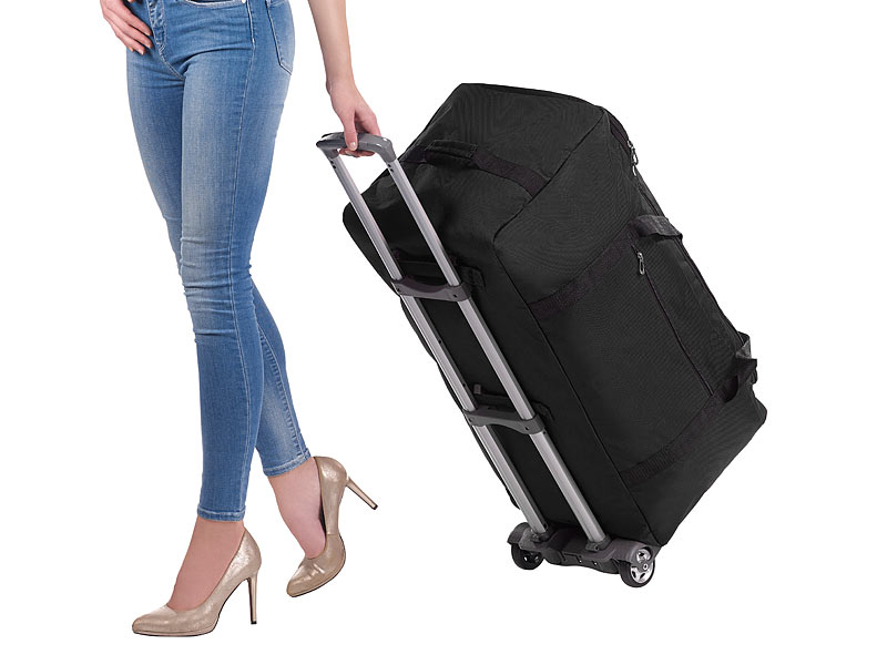 xcase reisekoffer ultraleichte 2in1 xxl reisetasche mit abnehmbarem trolley 110 liter. Black Bedroom Furniture Sets. Home Design Ideas