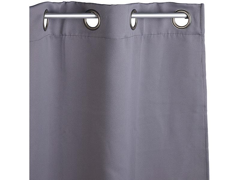 Gardinenschals Mit Ösen carlo milano gardinen: verdunkelungs-vorhang mit weiten 4-cm-Ösen