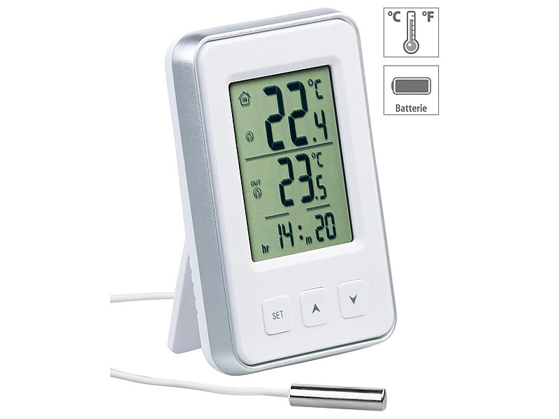 Kühlschrank Thermometer Digital : Rosenstein söhne kfz thermometer digitales gefrier