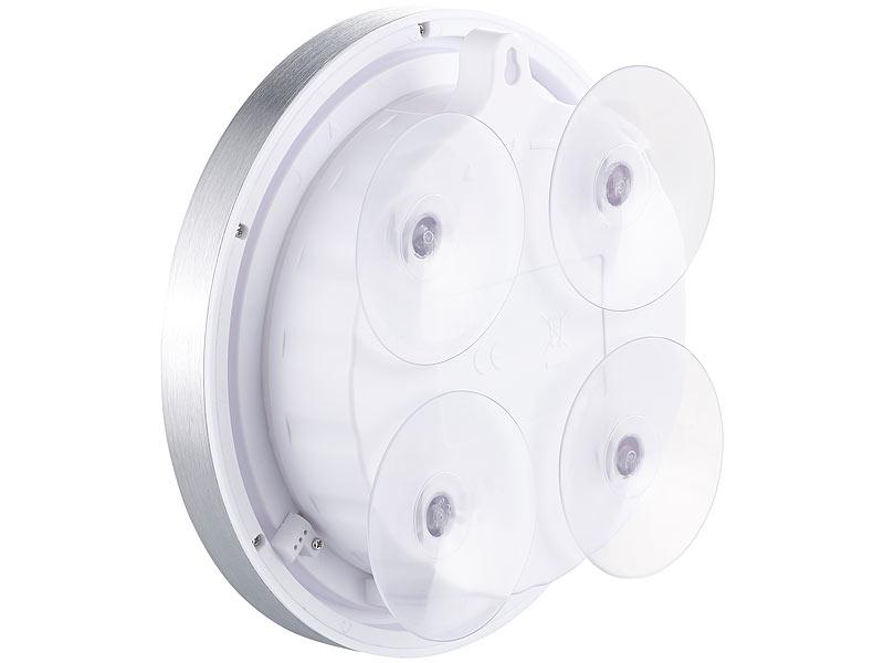 st leonhard badezimmeruhr badezimmer wanduhr mit lcd thermometer und aluminium rahmen ipx4. Black Bedroom Furniture Sets. Home Design Ideas