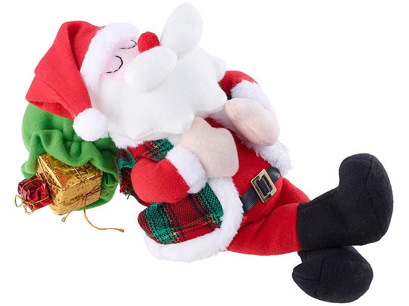 infactory Weihnachtsfiguren: Schlafender Weihnachtsmann mit Atem ...