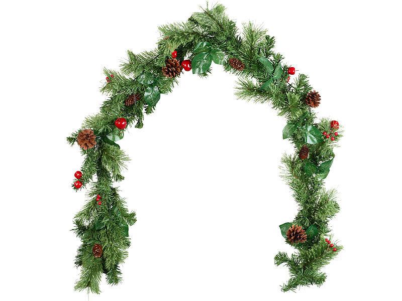 Britesta Weihnachtsgirlande: Deko-Tannengirlande, geschmückt ...