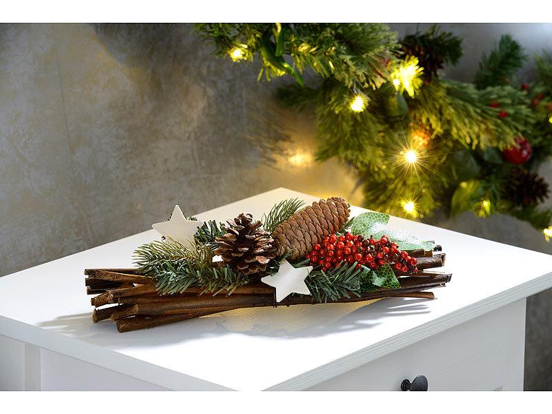 Britesta Handgefertigtes Weihnachts- & Adventsgesteck, echte ...