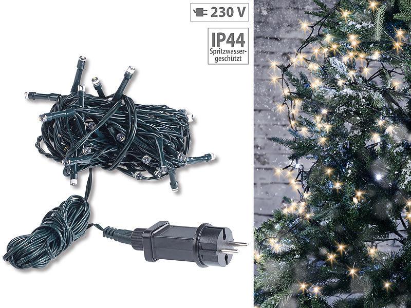 lunartec weihnachtslichter led lichterkette mit 40 leds f r innen au en ip44 warmwei 4 m. Black Bedroom Furniture Sets. Home Design Ideas