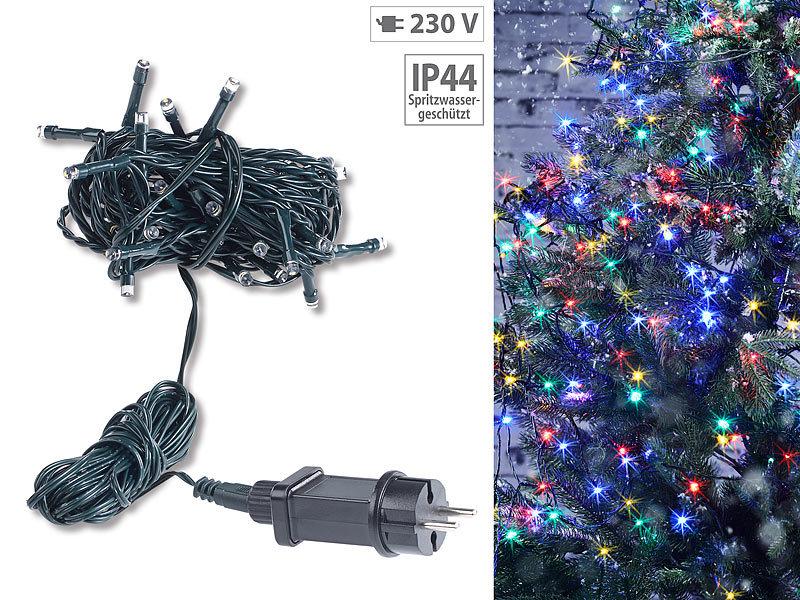 Weihnachtsbeleuchtung Aussen Schneefall.Lunartec Außen Deko Weihnachten Led Lichterkette Mit 40 Leds Für